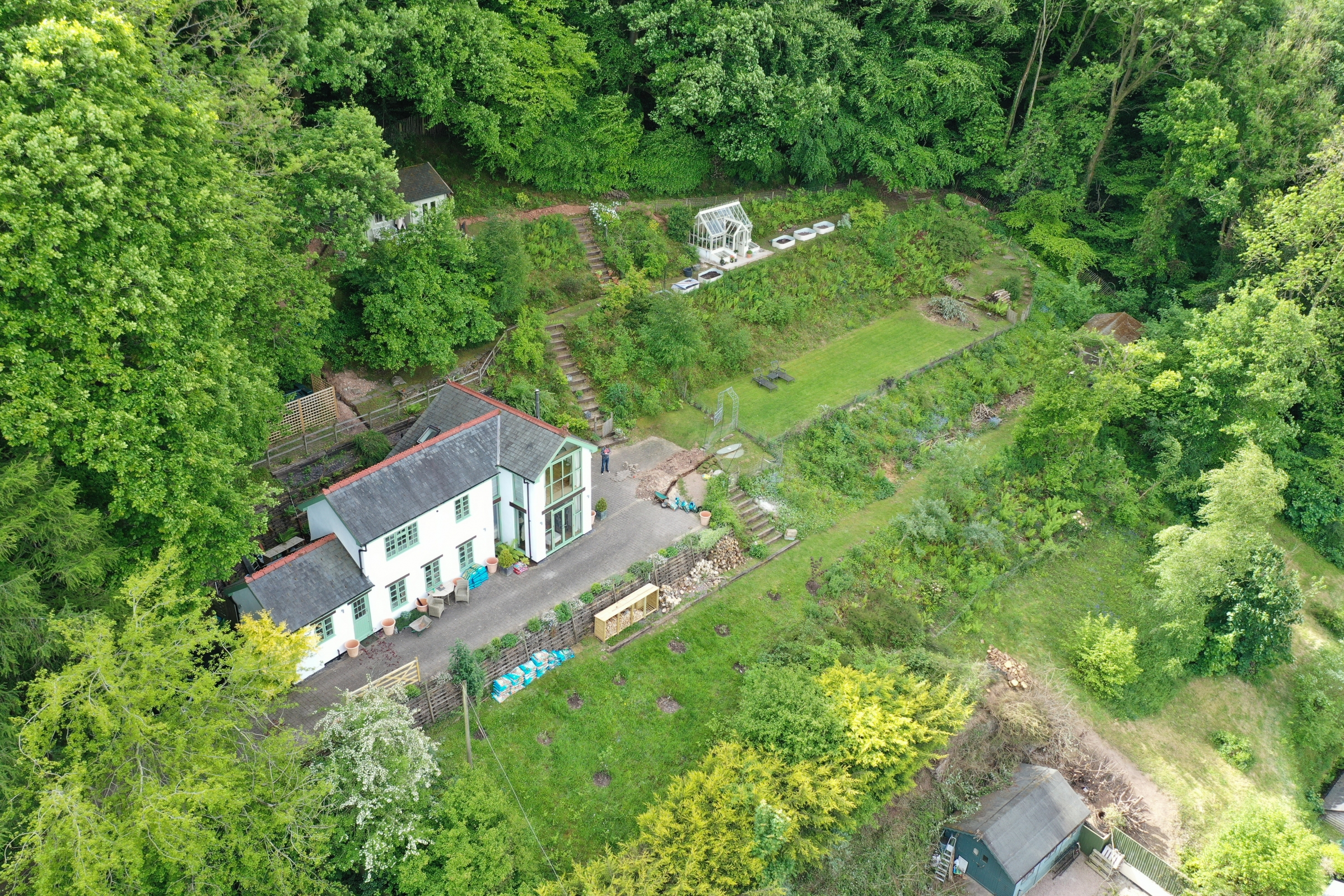 Aerial survey property herefordshire with certified drone pilot Luke Sutton 3 aerial drone inspection survey