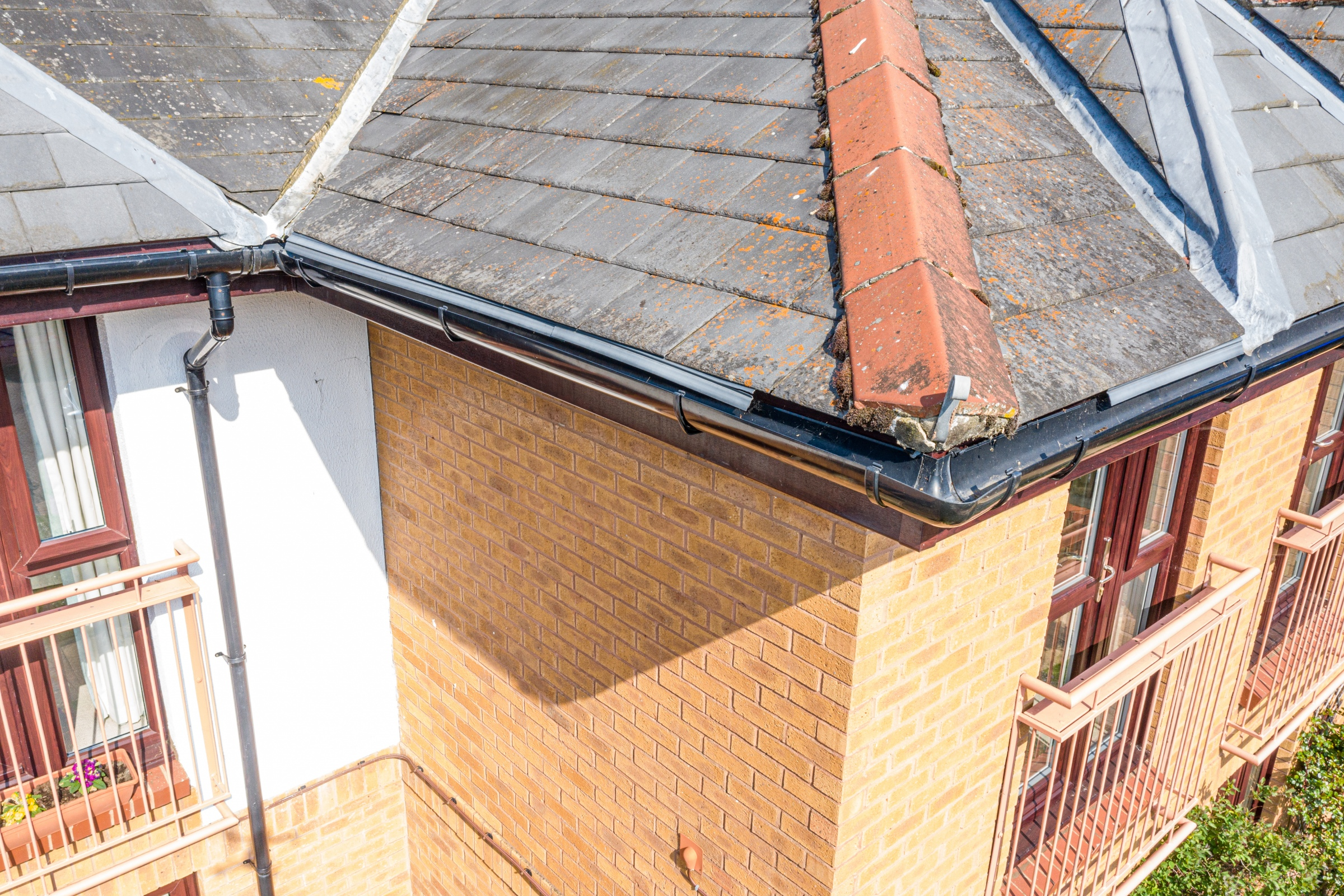 Residential home roof inspection aerial drone bishops cleeve cheltenham 1