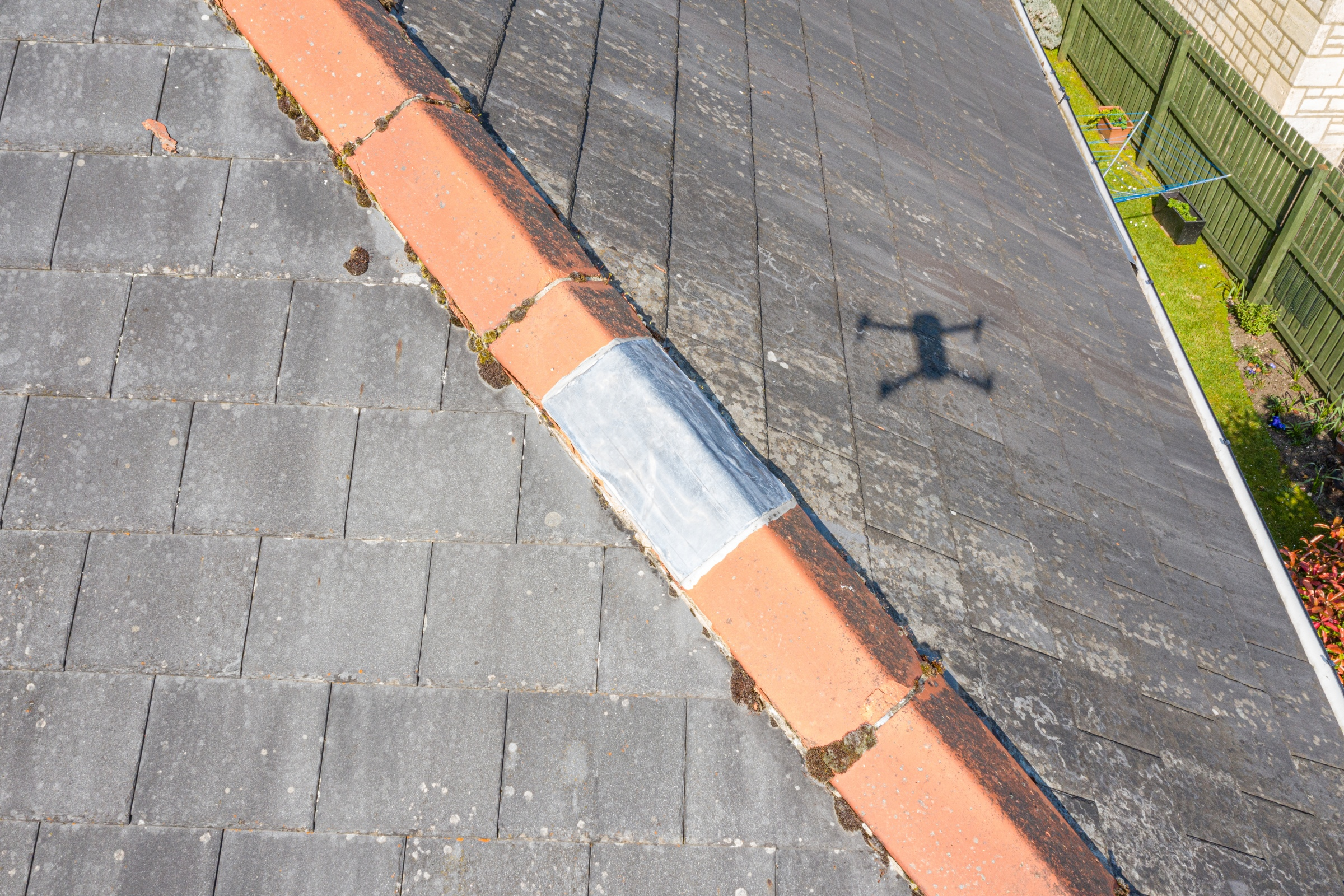 Residential home roof inspection aerial drone bishops cleeve cheltenham 4