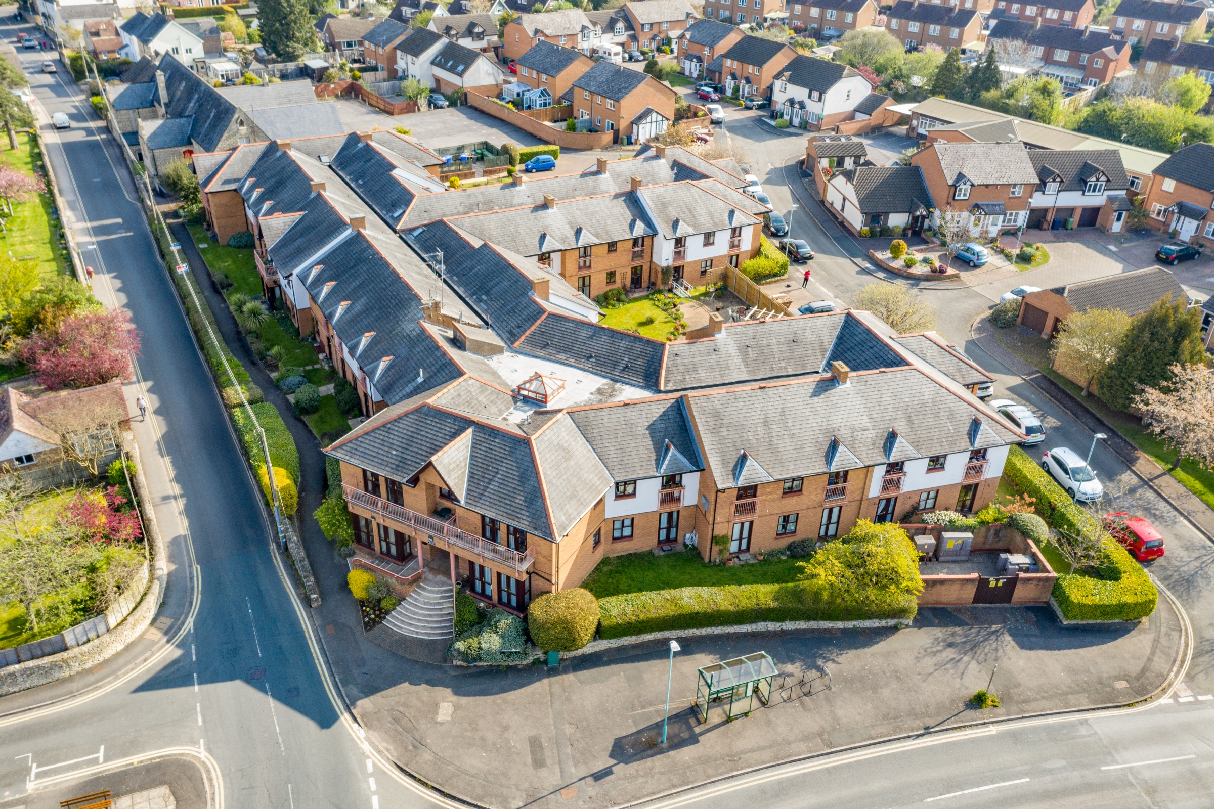 Residential home roof inspection aerial drone bishops cleeve cheltenham 6