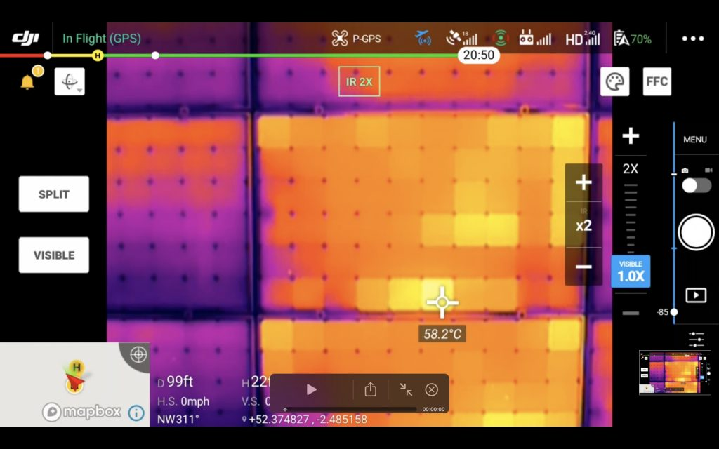 SOLAR PANEL thermal survey faults found faulty panels 0